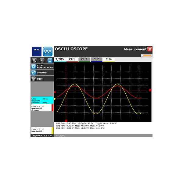 midiatek texa twinprobe software measurement osciloscope function generator ammeter