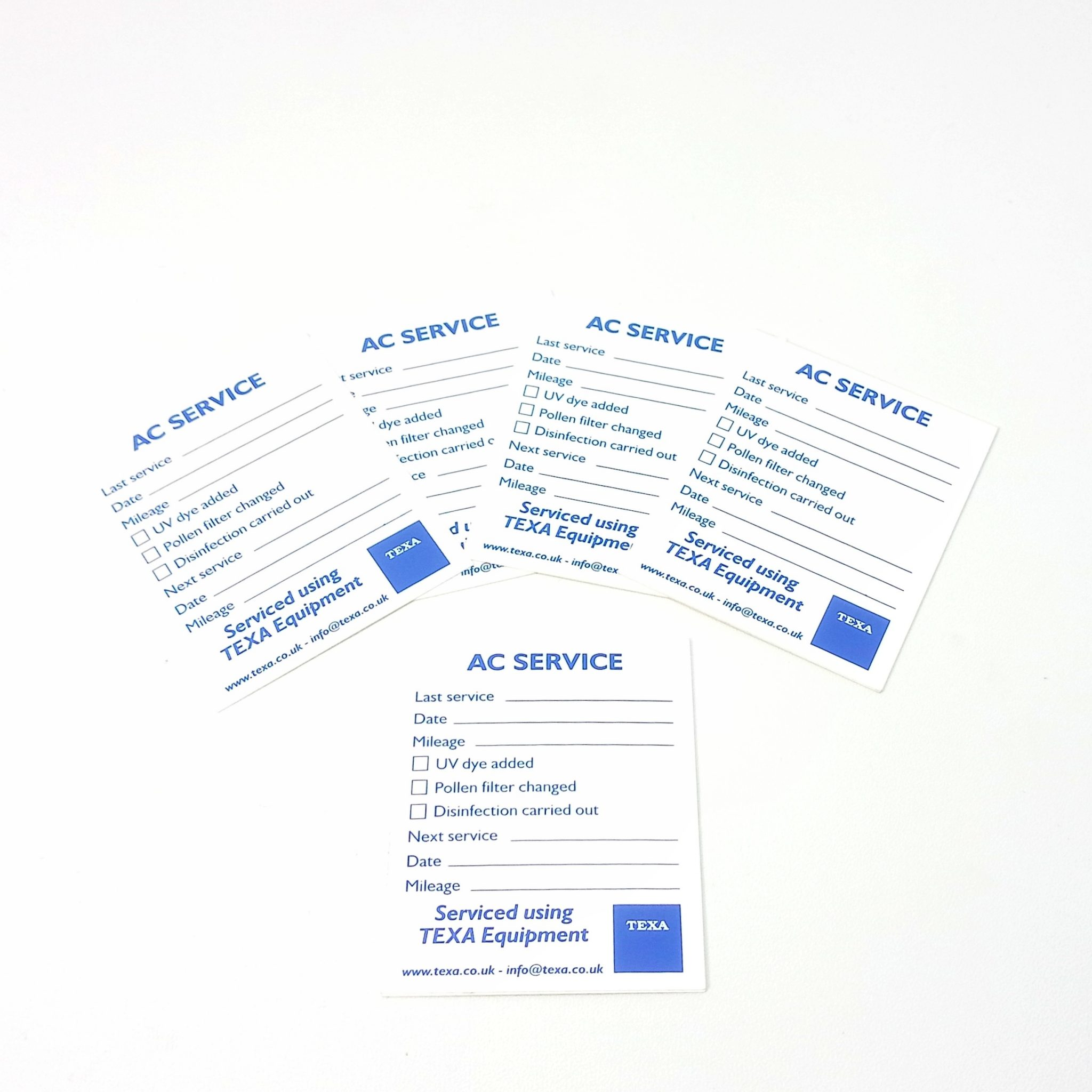 100 pcs AC Service Labels